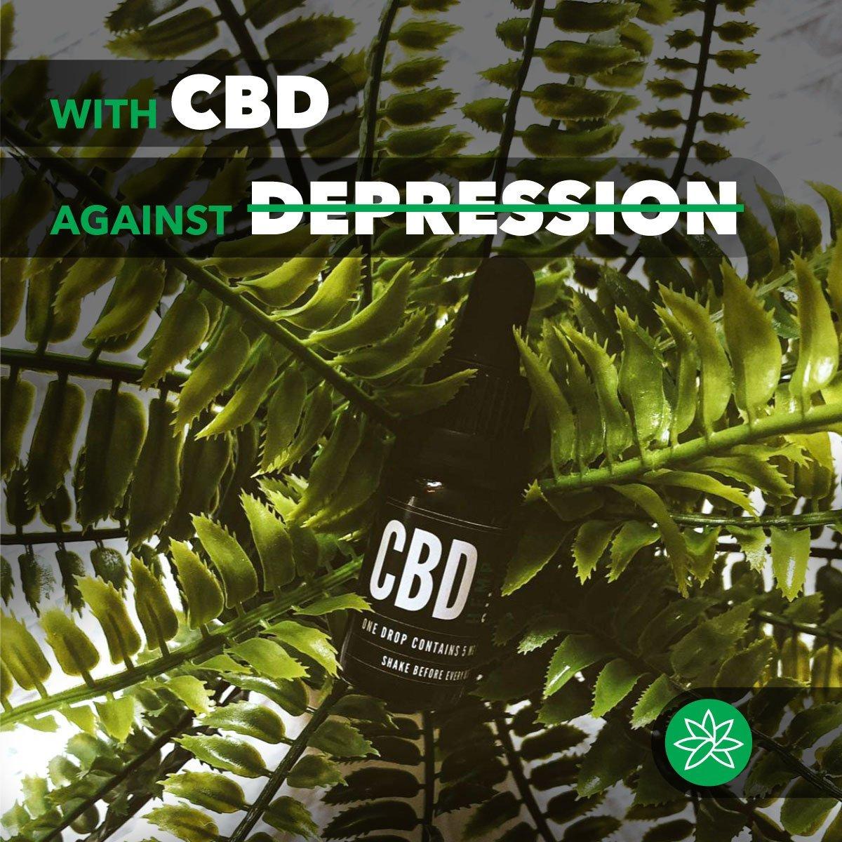 With CBD against depression