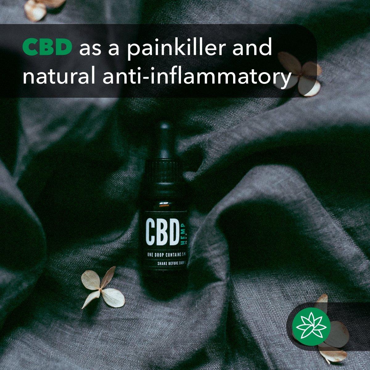 CBD as a painkiller and natural anti-inflammatory